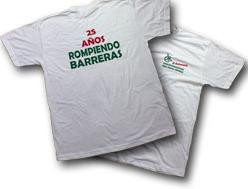 acceso a la información para conseguir una camiseta por el 25 aniversario