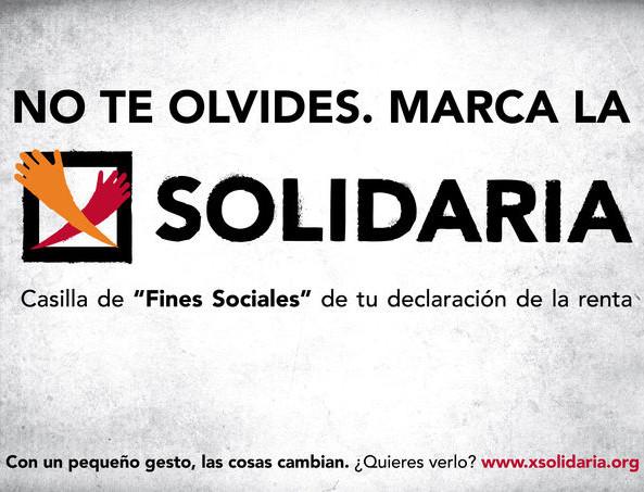 Acceso a la web de la campaña solidaria de la renta